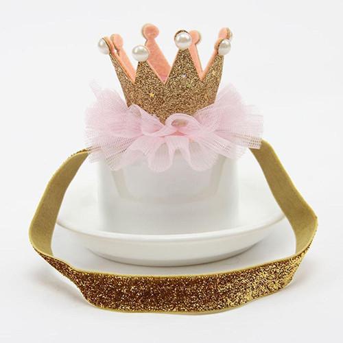 Корона на голову  детская на резинке Золото