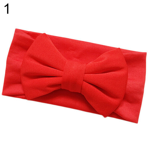 Повязка на голову для девочки с бантиком №1 Красный