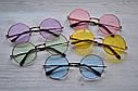 Солнцезащитные очки тишейды с цветной линзой Сиреневый, фото 4