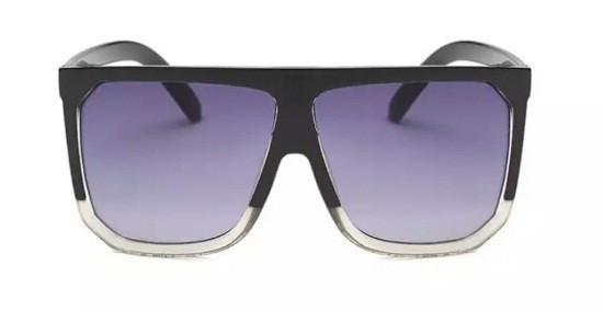 Стильные большие солнцезащитные очки Черный с градиентом