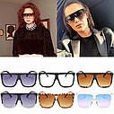 Стильные большие солнцезащитные очки Черный с градиентом, фото 4