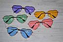 Очки солнцезащитные в форме сердца однотонные Розовый, фото 7