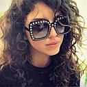 "Солнцезащитные очки в стиле Гуччи ""Gucci""  Розовый, фото 3"