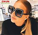 "Солнцезащитные очки в стиле Гуччи ""Gucci""  Розовый, фото 4"