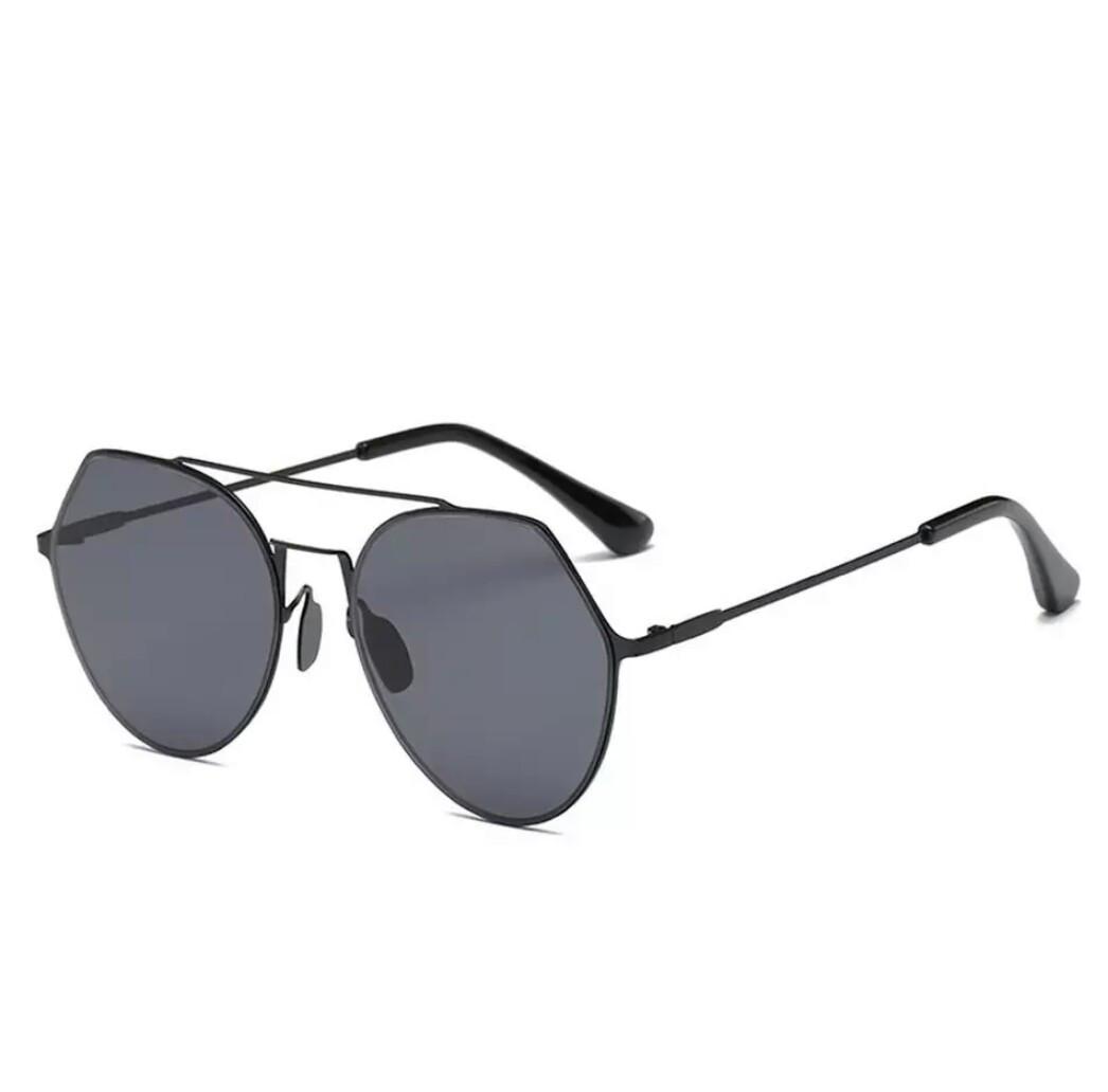 Солнцезащитные очки авиаторы капли унисекс в тонкой оправе Чёрный