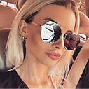 Солнцезащитные очки авиаторы капли унисекс в тонкой оправе Коричневый, фото 10
