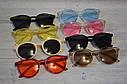 Стильные  солнцезащитные очки  в цветной оправе Голубой, фото 10