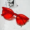 Стильные  солнцезащитные очки  в цветной оправе Зелёный, фото 4