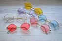 Солнцезащитные очки ромб с цветной линзой Голубой, фото 6