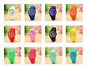 Силиконовые наручные часы Geneva, Оранжевый, Унисекс, фото 2
