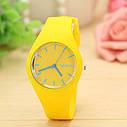 Силиконовые наручные часы Geneva, Оранжевый, Унисекс, фото 8