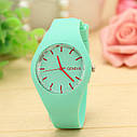 Силиконовые наручные часы Geneva, Розовый, Унисекс, фото 4