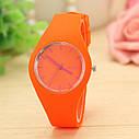 Силиконовые наручные часы Geneva, Розовый, Унисекс, фото 5