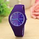 Силиконовые наручные часы Geneva, Розовый, Унисекс, фото 10