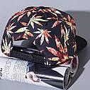 Кепка снепбек Конопля 3 с прямым козырьком, Унисекс, фото 4
