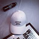 Кепка бейсболка Brooklyn Белая, Унисекс, фото 4