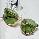 Стильные женские солнцезащитные очки  кошачий глаз Чёрный, фото 2