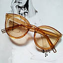 Стильные женские солнцезащитные очки  кошачий глаз Чёрный, фото 4