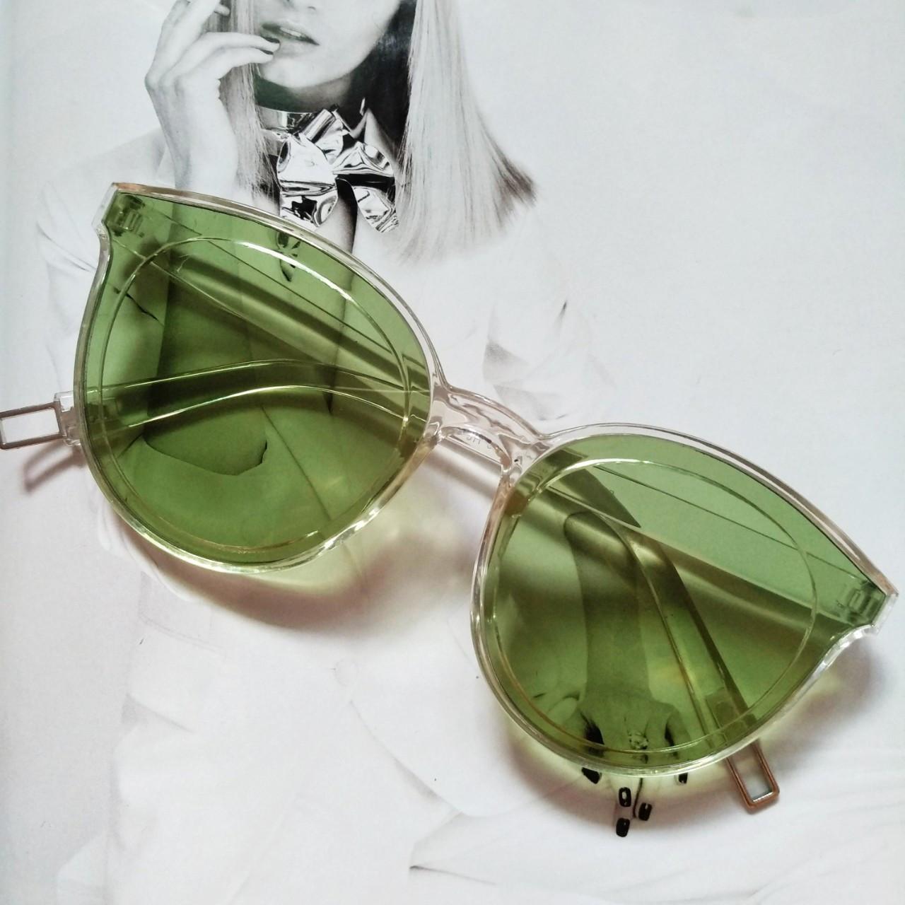 Стильные женские солнцезащитные очки  кошачий глаз Зелёный