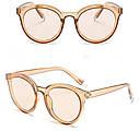 Стильные женские солнцезащитные очки  кошачий глаз Белый хром, фото 3