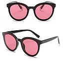 Стильные женские солнцезащитные очки  кошачий глаз Белый хром, фото 8