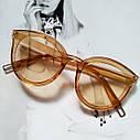 Стильные женские солнцезащитные очки  кошачий глаз Черный с красным, фото 3