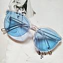 Стильные женские солнцезащитные очки  кошачий глаз Черный с красным, фото 4