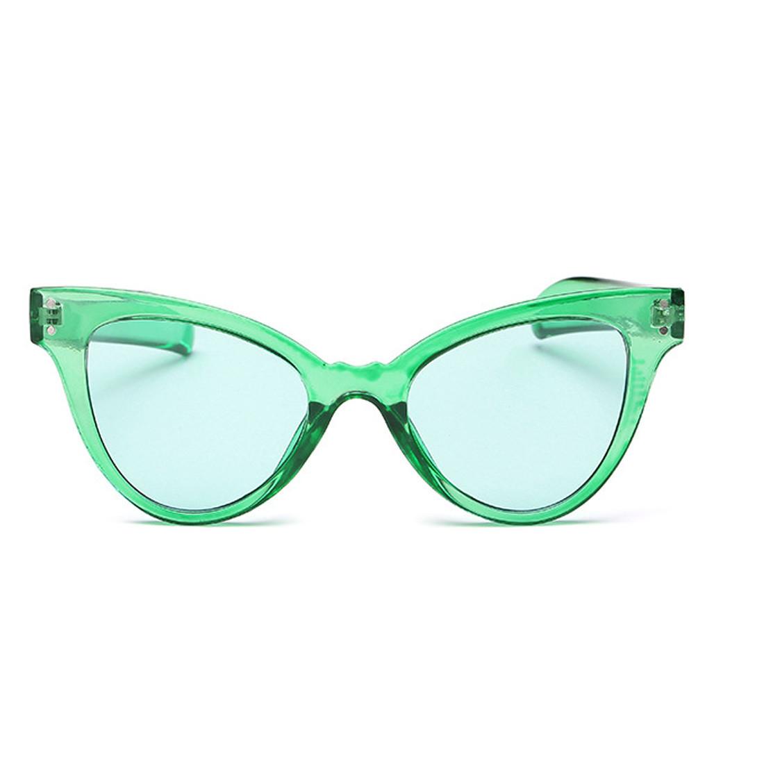 Стильные очки солнцезащитные  кошачий глаз Зелёный