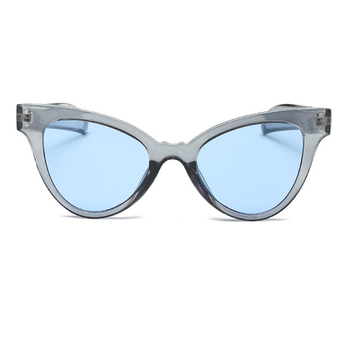 Стильные очки солнцезащитные  кошачий глаз Серый