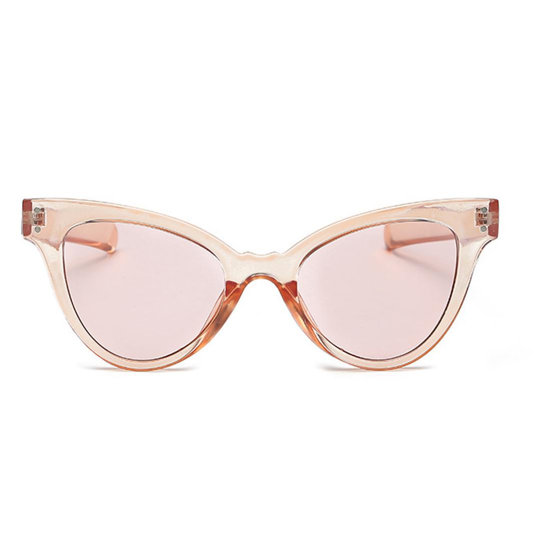 Стильные очки солнцезащитные  кошачий глаз Бежевый