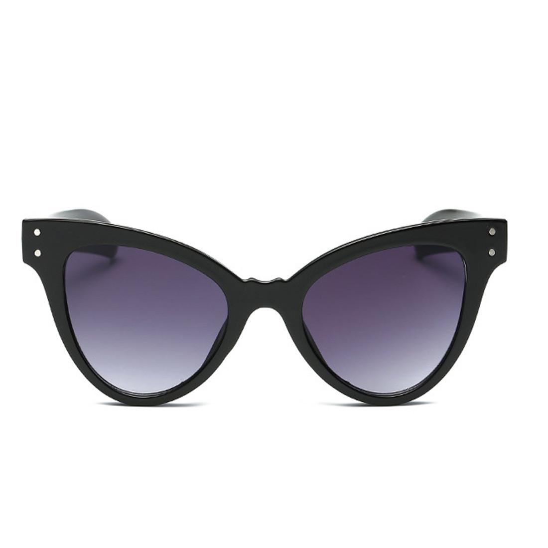 Стильные очки солнцезащитные  кошачий глаз Черный