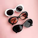 Солнцезащитные очки овал Белый с голубым, фото 7