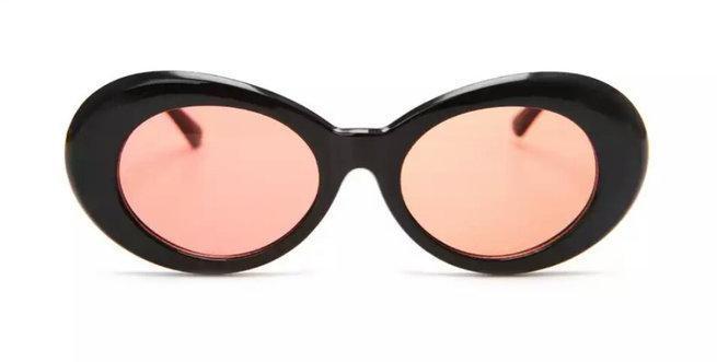 Солнцезащитные очки овал Черный с оранжевым
