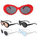 Солнцезащитные очки овал Красный с черным, фото 7
