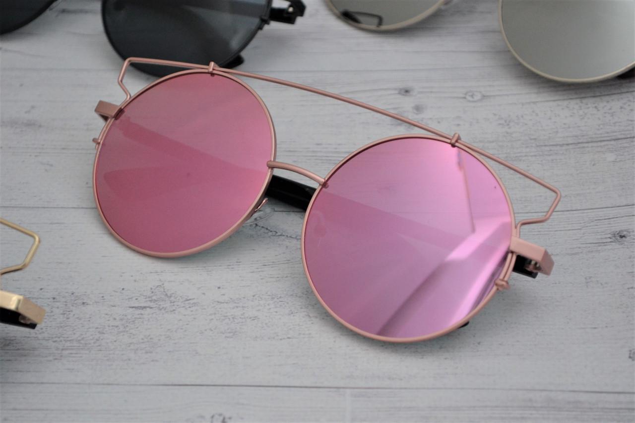 Солнцезащитные очки кошка тишейды большие Розовый