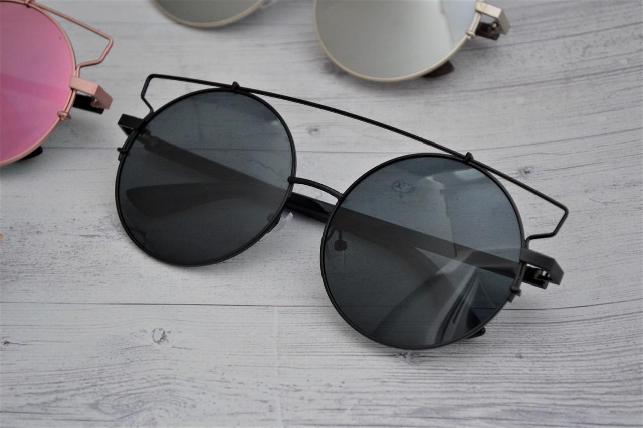 Солнцезащитные очки кошка тишейды большие Чёрный