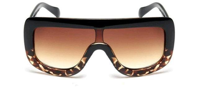 """Солнцезащитные очки женские в стиле Селин """"Сeline"""" Чёрный+леопард"""