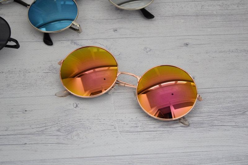 Солнцезащитные круглые  очки  тишейды  Оранжево-розовый