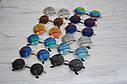 Солнцезащитные круглые  очки  тишейды  Синий в золоте, фото 9