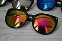 Солнцезащитные очки кошка женские зеркальные Белый хром, фото 2