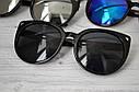 Солнцезащитные очки кошка женские зеркальные Белый хром, фото 4