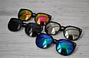 Солнцезащитные очки кошка женские зеркальные Белый хром, фото 5