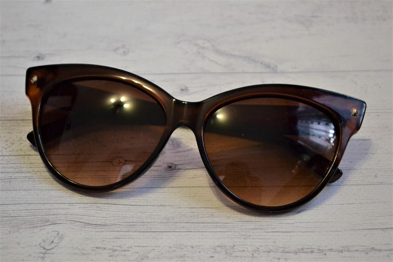 Солнцезащитные очки кошка женские Коричневый