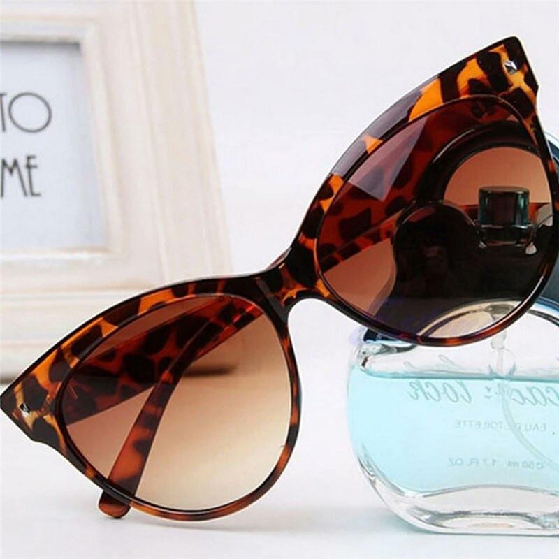 Солнцезащитные очки кошка женские Леопард