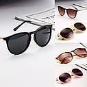 Солнцезащитные очки  с металлическими дужками Розовый, фото 4