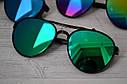 Солнцезащитные очки авиаторы капли унисекс в широкой оправе Мультиколор, фото 2