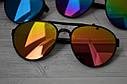 Солнцезащитные очки авиаторы капли унисекс в широкой оправе Мультиколор, фото 3