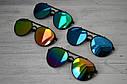 Солнцезащитные очки авиаторы капли унисекс в широкой оправе Мультиколор, фото 4