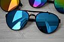 Солнцезащитные очки авиаторы капли унисекс в широкой оправе Мультиколор, фото 9