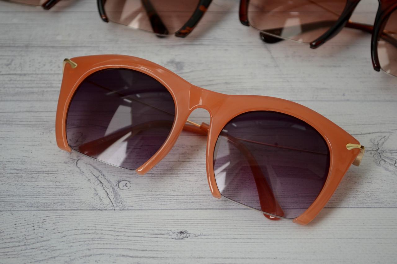 Очки солнцезащитные копия   Miu Miu с металлической дужкой Оранж